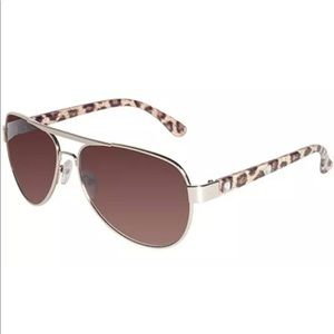 Rocawear Women Aviator Gold Sunglasses Cheetah